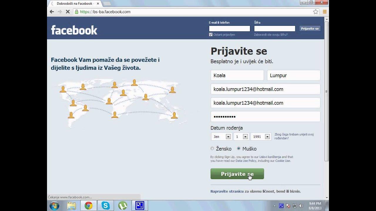 Kako napraviti Facebook profil (TUTORIAL ZA POCETNIKE