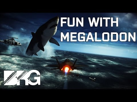 Battlefield 4 Fun With Megalodon - MOST EPIC ROUND END