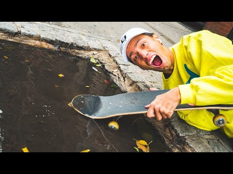 SKATEBOARD BUILT FOR RAIN!?