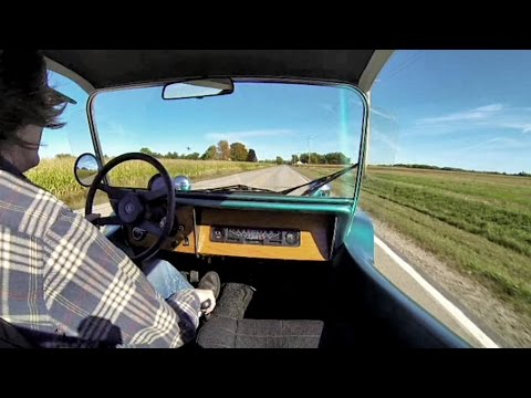 VW Subaru Dune Buggy Ride Full Throttle 4 Gears FAST! GoPro Footage
