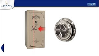 Liberty Safe - How to Operate Mechanical Lock with Key & Offset Handle