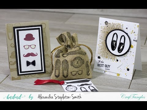CrafTangles Fathers Day Quartet [Video Tutorial by Alexandra from Hedgehog Hollow]