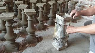 Cách làm con tiện xi măng cho biệt thự cổ điển