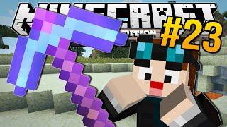 Minecraft Pocket Edition | ENCHANTED DIAMOND PICKAXE!! | #23