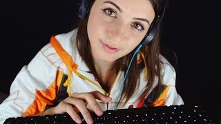 [ASMR] Mechanical Keyboard Typing and Binaural Close Whispers (Cherry MX Brown, CODE Keyboard)