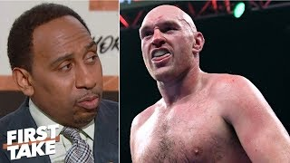 Tyson Fury brilliant for accusing Anthony Joshua of ducking Deontay Wilder - Stephen A. | First Take