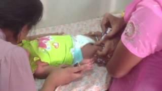 Baby Chikki first vaccination India