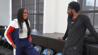 Coco Gauff Visits the Brooklyn Nets