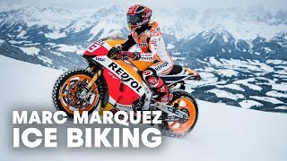 MotoGP Champion Races Up Snow and Ice at World Cup Ski Course