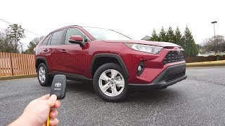 2019 Toyota Rav4 XLE: Start Up, Walkaround, Test Drive and Review