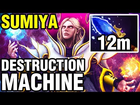 DESTRUCTION MACHINE - 12m Aghanim's - SUMIYA Plays Invoker - Dota 2