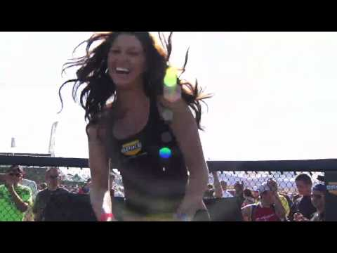 Supercross - Las Vegas 2010 - Spike Girls on Trampoline Video