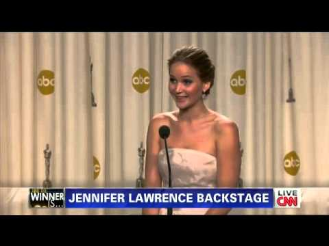 Jennifer Lawrence describe su caída en la ceremonia de los Oscar