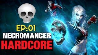 Necromancer Hardcore Let's Play EP:01 Diablo 3 Tragoul Set Seasonal Build