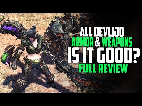 ALL DEVLIJO Armor And Weapon Review! Are They Good? Monster Hunter World Update