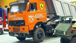 MEGA RC MODEL ACTION!! RC TRUCKS, RC EXCAVATOR, RC VOLVO, MAN, RC MERCEDES-BENZ G 55 AMG