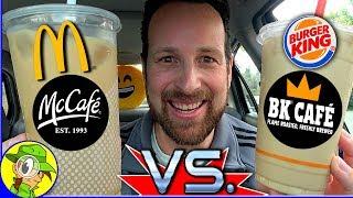 BK® Café VS Mcdonald's® McCafé® ☕ 🆚 ☕ | Vanilla Iced Coffee Reviews | Peep THIS Out! 🍔👑