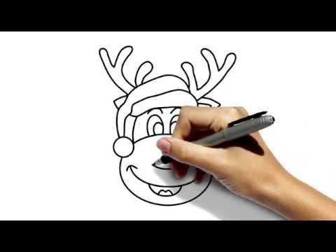 Видео как нарисовать оленёнка поэтапно