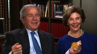 "George W. Bush on his dad's ""corny"" sense of humor"