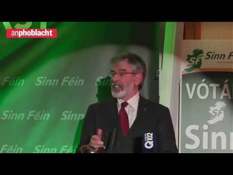 Gerry Adams speech to huge Sinn Féin rally in Dublin