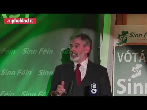Gerry Adams speech to huge Sinn Féin rally in Dublin