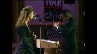 "Celine Dion-Live at Pavarotti and friends-""My heart will go on"""
