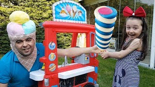 ŞİŞKO AŞÇI DONDURMALARI ALDI Öykü Pretend Play With Ice cream Sweet House, Fun Kid Video