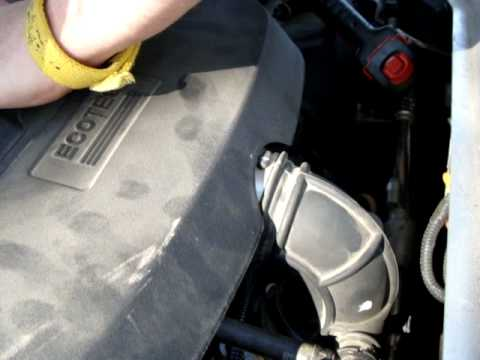 2007 durango fuel filter chevy hhr air    filter    engine cover removal and  chevy hhr air    filter    engine cover removal and