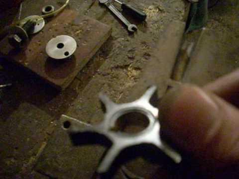 ремонт крыльчатки лодочного мотора салют