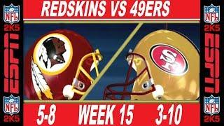 49ers vs Redskins Week 15 ESPN NFL 2K5