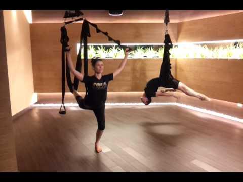 Floating Yoga @ Celebrity Fitness Singapore