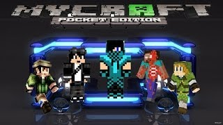 Como cambiar el skin en Minecraft Pocket Edition android...[Black Droid]