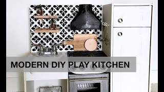 Modern DIY Play Kitchen