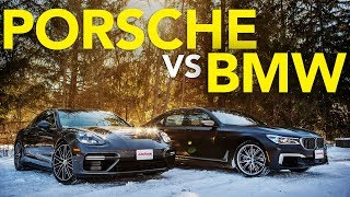 2018 BMW M760i vs Porsche Panamera Turbo Comparison | Which Luxury Winter Beater Wins?