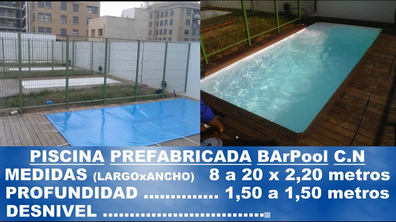Barpool piscinas prefabricadas fibra cat logo general de for Piscinas moviles precios