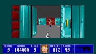 [MS-DOS] Wolfenstein 3D - Floor 5 (Episode III)