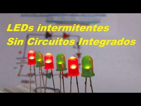 LEDs Intermitentes Sin Circuito Integrado (Facil de hacer)
