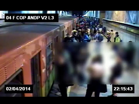 Video del homicidio de estudiante en estación de Metro Copilco