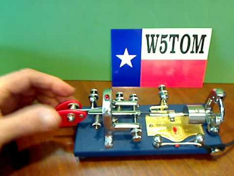 W5TOM Modified Vibroplex Blue Racer