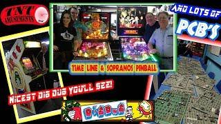 #1335 Super Nice Atari DIG DUG Arcade Video Game & TIME LINE Pinball Machines-TNT Amusements