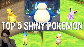 TOP 5 SHINY POKEMON REACTIONS! Pokemon: Let's Go Pikachu & Eevee