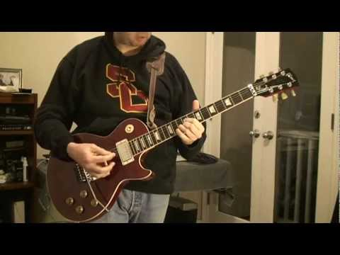 Cover of Rush's Red Barchetta on Alex Lifeson Axcess Les Paul Guitar