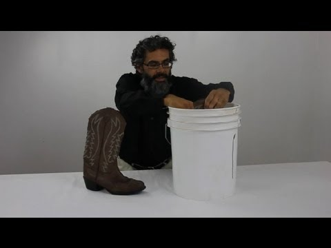 How to Stretch Leather Boots : Leather Care