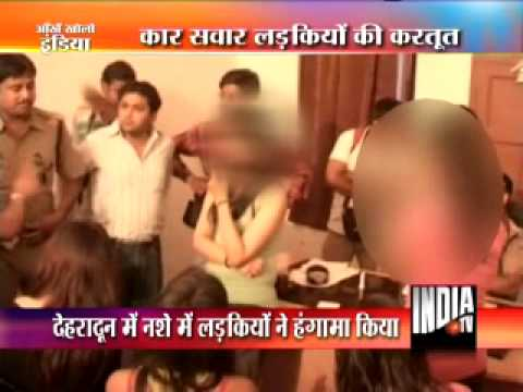Six Girls heavily drunk misbehaved in Police Station