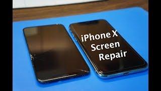 Cracked iPhone X Screen Repair -  Start to Finish