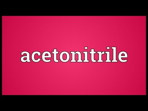 Header of acetonitrile