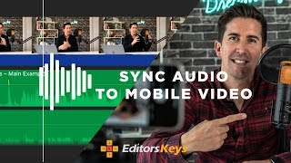 How to SYNC AUDIO to your iPhone video EASILY- with FREE SOFTWARE & USB microphone