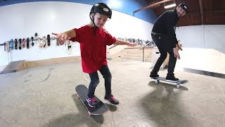 HOW TO TEACH A KID TO SKATEBOARD!