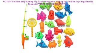 Recenzja  OOTDTY Creative Baby Bathing Toy 22-piece Magnetic Fishing Toy Set Bath Toys High Qualit