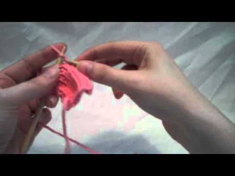 How To Increase Stitches In Knitting Continental : How to: Kfb (knit front and back) (continental style) - YouTube